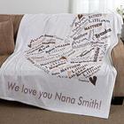 Her Heart of Love Personalized Fleece Blanket