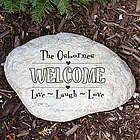 Engraved Live, Laugh, Love Garden Stone