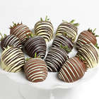 12 Triple Chocolate Covered Strawberries Gift Box