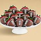 12 Hand-Dipped Football Berries
