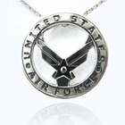 Sterling Silver US Air Force Pendant