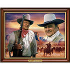 John Wayne Light of a Legend Illuminating Canvas Print