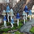 Small Magical Mushroom Garden Accent