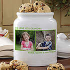 Picture Perfect Two Photos Personalized Cookie Jar