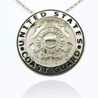 Sterling Silver US Coast Guard Pendant