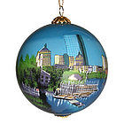Boston Skyline Ball Ornament