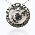 Sterling Silver US Marines Pendant