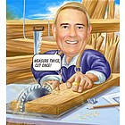 Carpenter Caricature Print from Photo