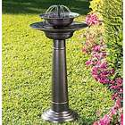 Solar Powered Two-Tier Fountain Birdbath