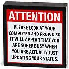 Social Networking Status Update Plaque