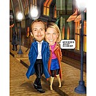 Date Love Caricature Print from Photos