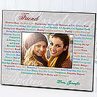 Personalized Expressions of Friendship Photo Frame