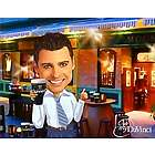Irish Pub Caricature Print from Photo