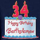 Personalized Happy Birthday T-Shirt
