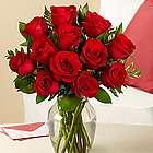 One Dozen Long Stemmed Red Birthday Roses