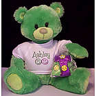 Neon Green Personalized Teddy Bear