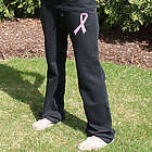 Breast Cancer Hope Ribbon Ladies Sweatpants