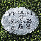 Personalized Family Cartoon Character Stepping Stone