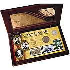 Civil War Coin and Stamp Collection Boxed Set