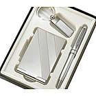 Personalized Silver Pen, Key Ring & Business Card Case Gift Set