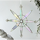 Snowflake Pinwheel Stained Glass Suncatcher