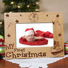 My First Christmas Block Font Personalized Picture Frame