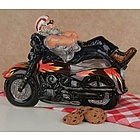 Motorcycle Ceramic Cookie Jar