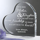Mother and Daughter Personalized Heart Plaque