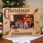 Christmas Memories Personalized Wooden Picture Frame