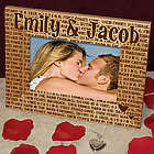 Personalized Kissing Wood Picture Frame