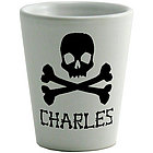 Skull and Crossbones Personalized Shot Glass