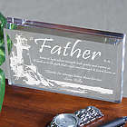 Lighting The Way Personalized Father's Day Paperweight
