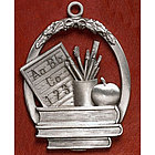 Pewter Personalized Teacher Ornament