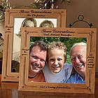 Generations of Family Personalized Wood Photo Frame