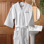 His Embroidered Velour Spa Robe