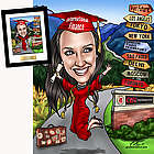 Personalized Custom Graduation Caricature Art