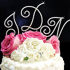 Full Crystal Monogram Cake Topper