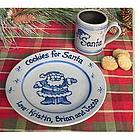 Personalized Santa Mug and Plate Cookie Gift Set