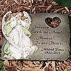Personalized Forever with the Angels Sympathy Stepping Stone