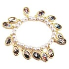 Children's Pearl Bracelet With Saints Medals