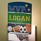 Personalized Kid's Sports Night Light