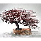 Wire Bonsai Tree Windswept Style Sculpture