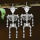 Dancing Skeletons Silver Filigree Earrings