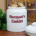Any Message Personalized Ceramic Cookie Jar