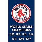 Boston Red Sox 2007 World Series Champs Embroidered Banner Flag