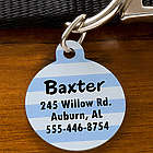 Pick Your Design Personalized Circle Pet ID Tag