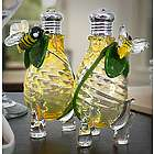 Glass Bees Salt and Pepper Shaker Set