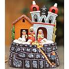 Bell Tower Christmas Ceramic Nativity Scene