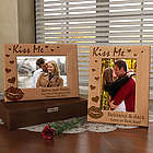 Personalized Kiss Me Wooden Picture Frame