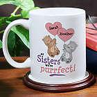Personalized Purrfect Sister Coffee Mug